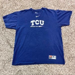 Nike TCU  Horned Frogs T Shirt size Large